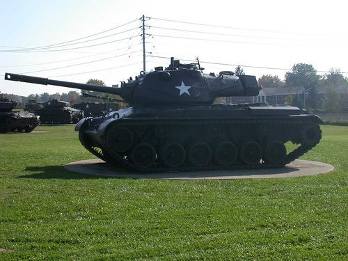 Military Tank on Display