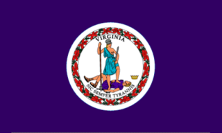State of Virginia Official Flag